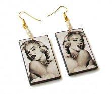 Kolczyki Marilyn Monroe- th...
