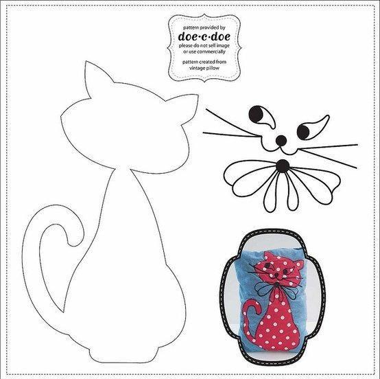 Как сделать мордочку кота из ткани