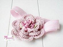 Momilio opaska szydełkowy kwiat