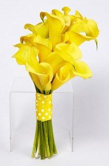 bukiet ślubny- oryginalny żółty (mogą być też słoneczniki)