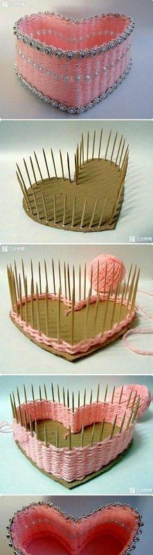diy, diy projects, diy craft, handmade, diy lovely heart box