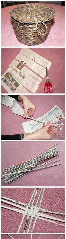 diy, diy projects, diy craft, handmade, diy newspaper basket