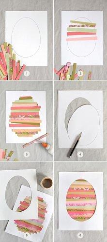 diy, diy projects, diy craft, handmade, diy paper strip easter art