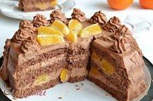 Tort czekoladowy z pomarańc...