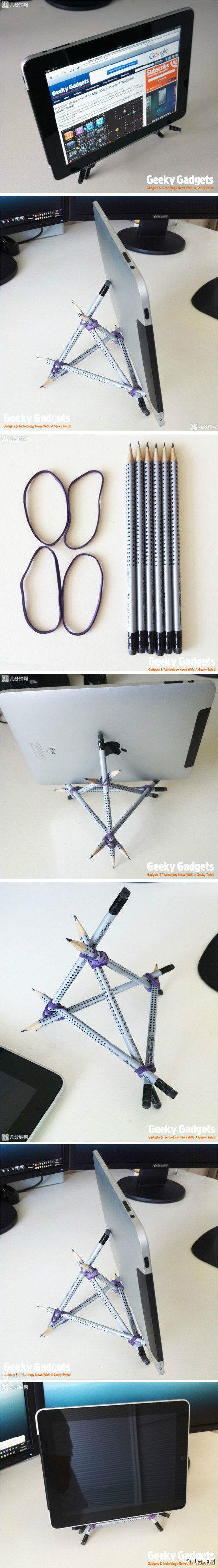 diy, diy projects, diy craft, handmade, diy simple tablet stand