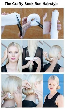 diy, diy projects, diy craft, handmade, diy crafty sock bun hairstyle