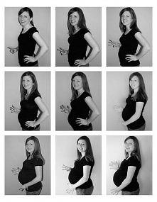 Zdjęcia w ciąży miesiąc po miesiącu