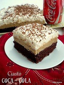 Składniki na biszkopt:  - 6 jaj  - 6 łyżek cukru  - 6 łyżek mąki  - 1 łyżeczka proszku do pieczenia  - 2 łyżki Coca - Coli  - 2 łyżki oleju  - 3 łyżki kakao  - kilka łyżek Coca ...