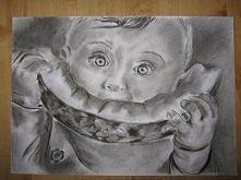 dzieciaczek z arbuzem :D