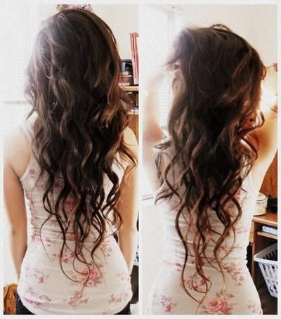 Długie Kręcone Włosy ładne A Twoje Włosy Jak Wyglądają