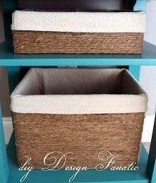 stare kartony przemienione w piękne ozdobne pudełka:)