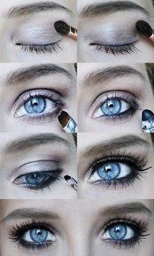 Idealny makijaż oczu na wieczór dla niebieskookich!