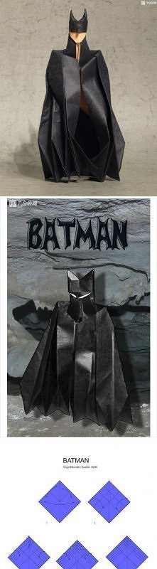 how to, how to fold, origami instructions, paper folding, step by step, tutorial, origami batman