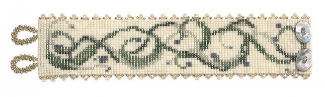 wiosenna bransoletka - wzór w wzorach i szablonach, na krosno i peytowy splot