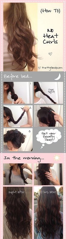 diy, diy projects, diy craft, handmade, diy no heat curls hairstyle