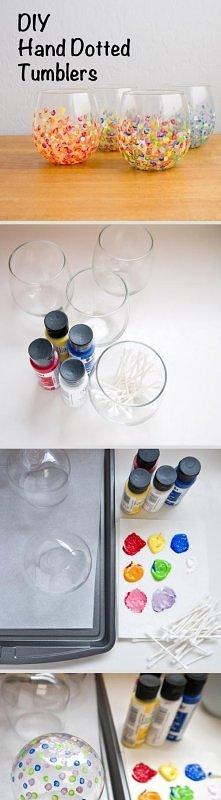 farby do szkła i pałeczki kosmetyczne