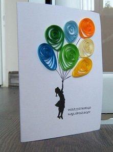 kartka urodzinowa - quilling