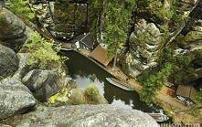Hřensko, Czechy Park Narodowy Czeska Szwajcaria
