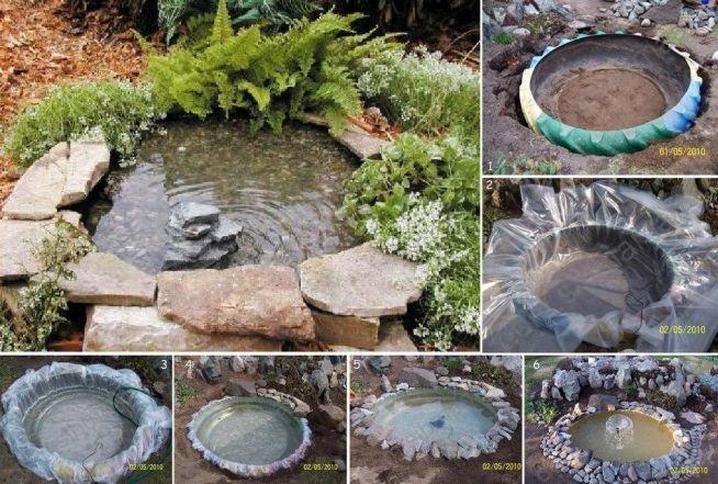 diy, diy projects, diy craft, handmade, diy tractor tire garden pond