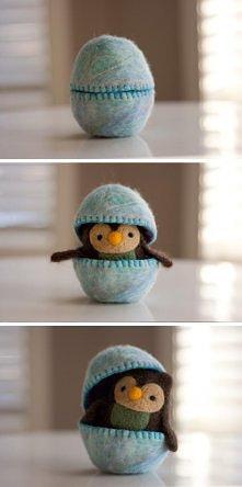 słodkie jajko z niespodzianką