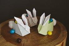Wielkanocne króliczki origami.