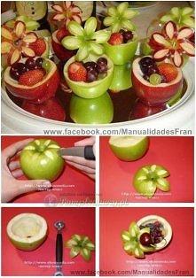 Owocowe miseczki z owocami ...