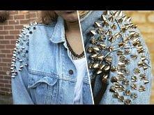 D.I.Y | Shoulder studded denim jacket