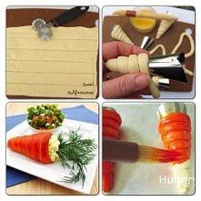 Nadziewane marchewki z ciasta