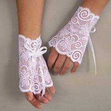 Rękawiczki ślubne w stylu v...