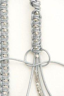 Bransoletki handmade ze skórzanych sznureczków diy