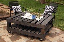 Drewniane palety pomysł do ogrodu