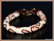 Łaciata wężowa bransoletka :)