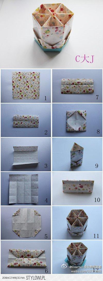Świetne pudełeczko z origami ;P