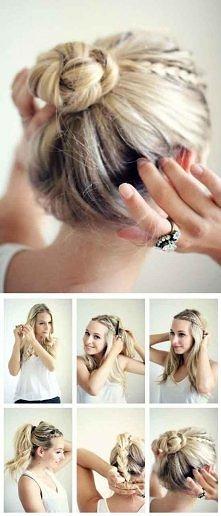 ciekawy sposób na fryzurę ;)