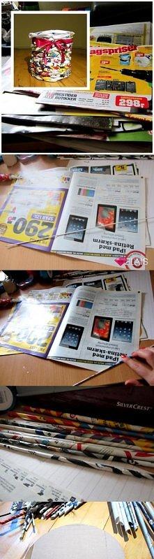 jak wykorzystać kolorowe gazety