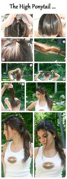 diy, diy projects, diy craft, handmade, diy high ponytail hairstyle