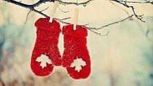 Rękawiczki czerwoniutkie