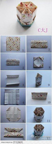 Świetne pudełeczko z origam...