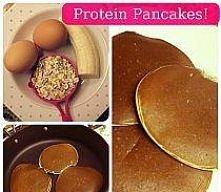 Protein pancakes Zastrzyk energii!  Zdrowe, dietetyczne placuszki. ;) - Jajka...