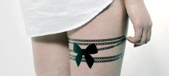 Zmywalne Tatuaże Podwiązka Od Totutatu Na Tattoo Zszywkapl