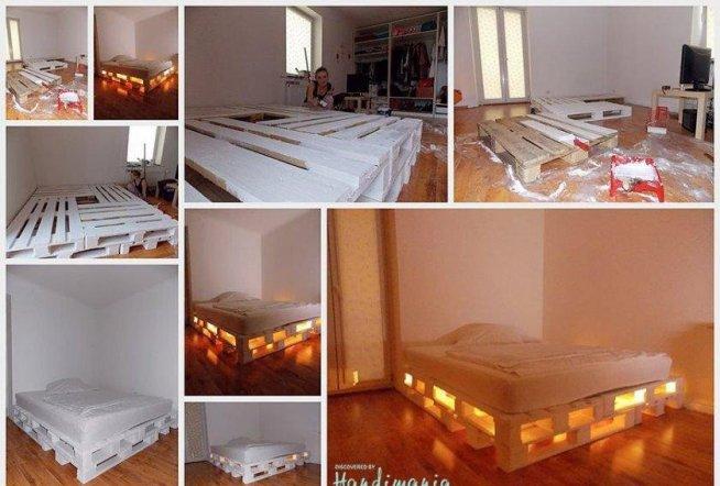 łóżko Z Palet Na Sypialnia Zszywkapl