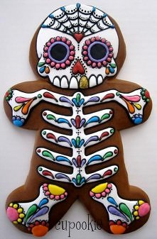 Sugar skull gingerbread man