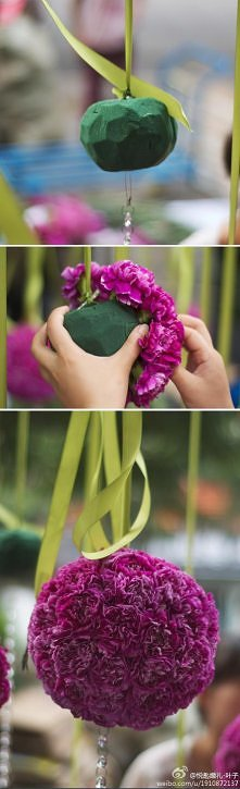 diy, diy projects, diy craft, handmade, diy hanging flower ball
