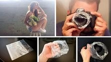 Plastic bag creates the effect of the haze without any filters or digital eff...
