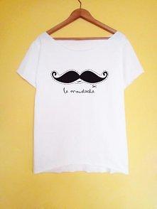 le moustache koszulka ręczn...