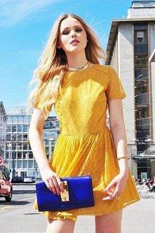 żółta sukienka, lekka i stylowa