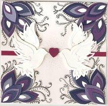 Ślubne kartki ręcznie wykonane