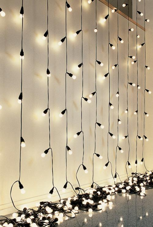 Hanging Christmas Lights In Room
