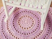 szydełkowy dywan +opis