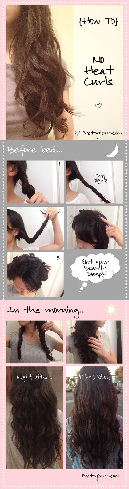 fashion, diy fashion projects, diy fashion ideas, diy fashion tips,  diy no heat curls hairstyle